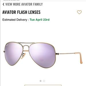 Ray Ban Aviator Flash Lens in Lilac